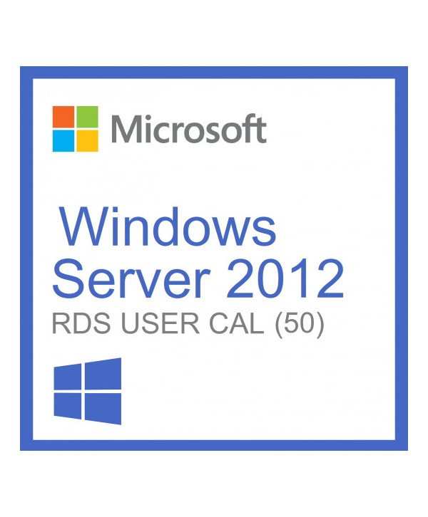 Windows Server 2012 Remote Desktop Services (RDS) 50 user connections (Microsoft)