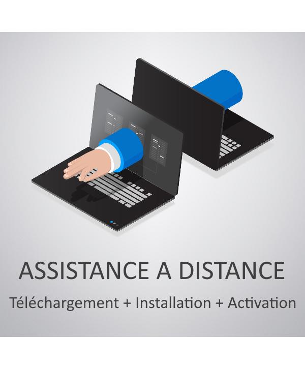 Assistance à distance : Téléchargement + Installation + Activation